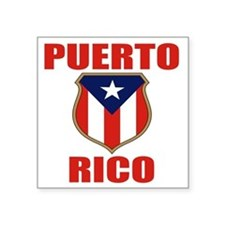 "puerto rico (lk) Square Sticker 3"" x 3"""