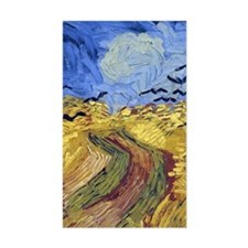 Wheatfield with Crows Decal