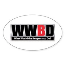 WW the Bergamasco D Oval Decal