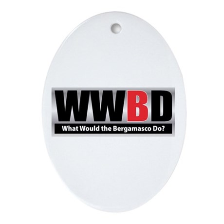 WW the Bergamasco D Oval Ornament