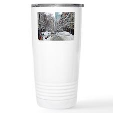 7th street snow scene Travel Mug