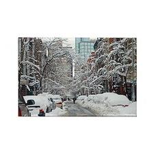 7th street snow scene Rectangle Magnet