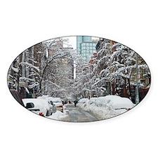7th street snow scene Decal