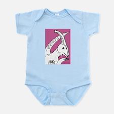 Parasaurolophus Pink! Infant Bodysuit