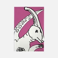 Parasaurolophus Pink! Rectangle Magnet