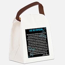 Love and Compassion, Dalai Lama Canvas Lunch Bag