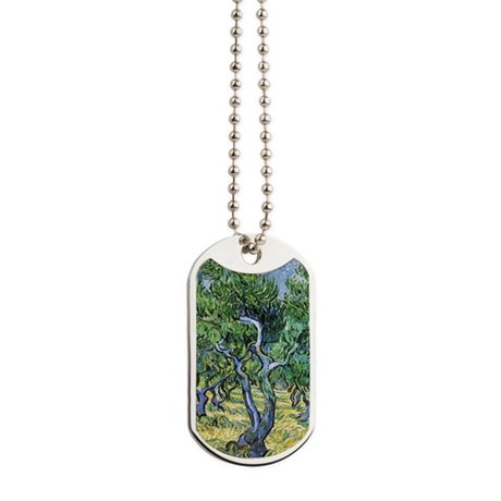 Van Gogh Olive Grove Dog Tags