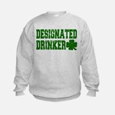 Designated Drinker Distressed Sweatshirt