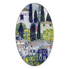 Gustav Klimt  Church at Cassone sul Decal