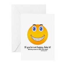 If you're not happy, Smiley Greeting Cards (Packag