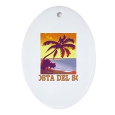 Costa del Sol, Spain Oval Ornament