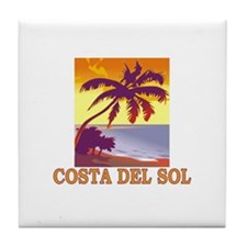 Costa del Sol, Spain Tile Coaster