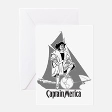 Columbus Day Funny T-Shirt -- Captai Greeting Card