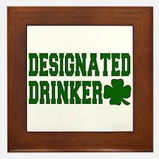 Designated Drinker Framed Tile