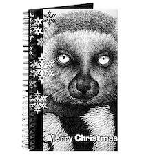 Ring-tailed Lemur Christmas Card Journal