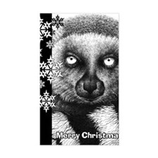 Ring-tailed Lemur Christmas Ca Decal