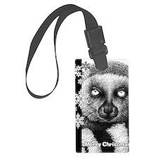 Ring-tailed Lemur Christmas Card Luggage Tag