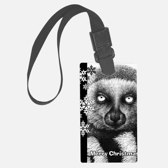 Ring-tailed Lemur Christmas Card Luggage Tag