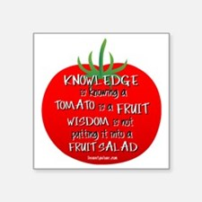 "tomatofruit Square Sticker 3"" x 3"""