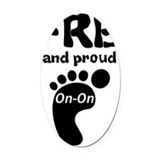 FRB and Proud Oval Car Magnet
