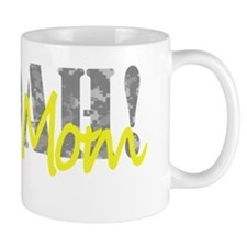 Custom Army Mom on black T Mug