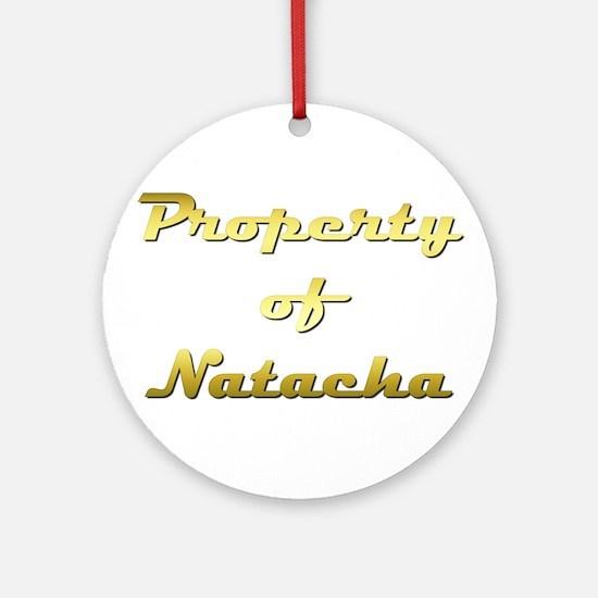 Property Of Natacha Female Round Ornament