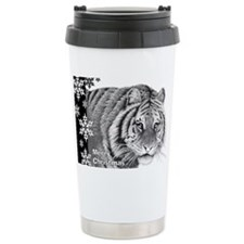 Siberian Tiger Christmas Card Travel Mug