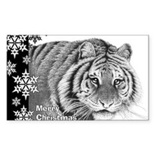Siberian Tiger Christmas Card Decal