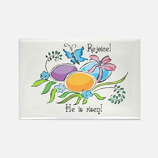 Easter Egg Rejoice Rectangle Magnet