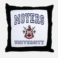 MOYERS University Throw Pillow