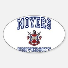 MOYERS University Oval Decal
