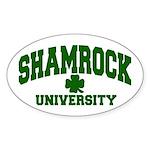 Shamrock University Oval Sticker
