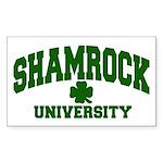 Shamrock University Rectangle Sticker