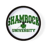 Shamrock University Wall Clock