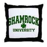 Shamrock University Throw Pillow