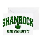 Shamrock University Greeting Cards (Pk of 10)