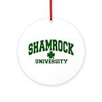 Shamrock University Ornament (Round)