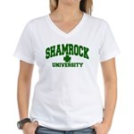 Shamrock University Women's V-Neck T-Shirt