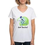 Got Touche? Women's V-Neck T-Shirt