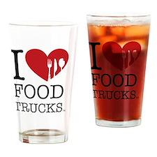 I Love Food Trucks Drinking Glass