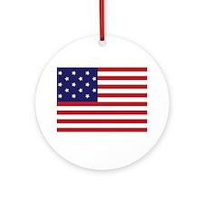 Star-Spangled Banner (Dark) Round Ornament