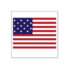 "Star-Spangled Banner (Dark) Square Sticker 3"" x 3"""