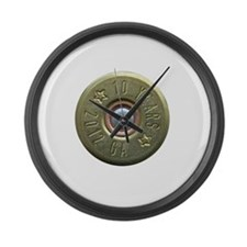 shotgun shell fixed Large Wall Clock