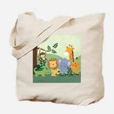 Jungle Safari Alligator, Lion, Elephant,  Tote Bag