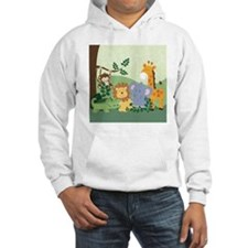 Jungle Safari Alligator, Lion, E Hoodie
