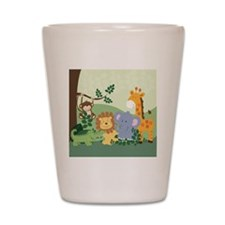 Jungle Safari Alligator, Lion, Elephant Shot Glass