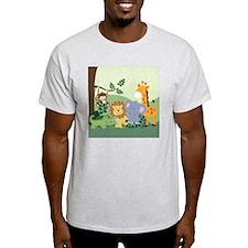 Jungle Safari Alligator, Lion, Eleph T-Shirt
