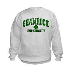 Shamrock University Distressed Sweatshirt