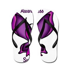 Domestic Violence Awareness Butterfly R Flip Flops