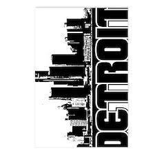 Detroit Skyline V Postcards (Package of 8)
